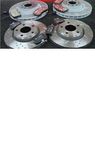 AUDI A8 S8 1999-2002 CROSS DRILLED GROOVED BRAKE DISC BREMBO PADS FRONT REAR