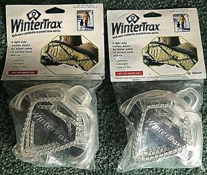 2 PAIR NEW WinterTrax Ultralight Spikeless -Fits Womens Sz 6 To Men's Sz 12
