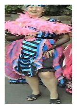 Blue Saloon Girl Wild West Western Fancy Dress Costume Outfit Size 8 - 10 P7404