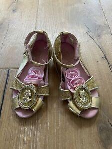 Disney Store Belle Costume Dress Up Heel Shoes Sandals Infant Child Girl Sz 7-8