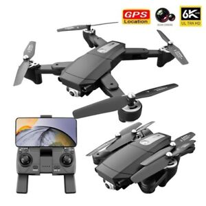 New 6K 5G WiFi FPV GPS Drones With Camera HD RC Quadcopter Folding Dron Toy Gift