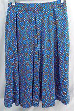 Womens LuLaRoe Madison Box Pleat Skirt MEDIUM Blue Teal Orange Red NWT