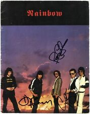 RAINBOW Down to Earth GRAHAM BONNET Roger Glover Don Airey Deep Autograph SIGNED
