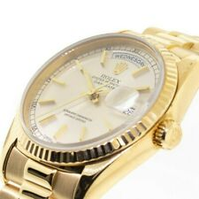 Rolex Day-Date Yellow Gold 36 mm - Silver Dial - President Bracelet - 18238