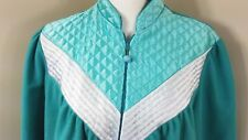 Vintage Sears Carriage Court Housecoat Robe Sz L16/18 Pockets Quilted Front Zip