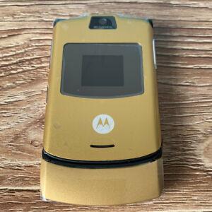Refurbished Motorola RAZR V3 Original Unlocked Flip Mobile Phone GSM Cellphone