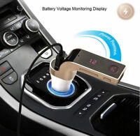 Bluetooth Car FM Transmitter Kit Wireless Radio Adapter USB Charger Mp3 Player