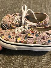 TODDLER Vans Snoopy PEANUTS Dance Party Pink Music SIZE 7