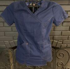 Dickies Nursing Scrub Top Blue Women's Small #2