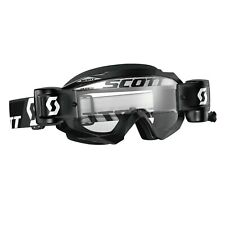 Maschera Scott Hustle Mx Goggles WFS Nero Black Tear Offs Motocross Enduro