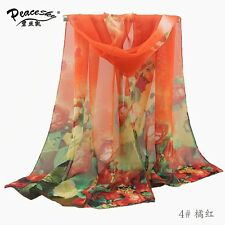 Noble Fashion Women's Long Soft Wrap Lady Shawl Silk Chiffon Scarf HJ-104