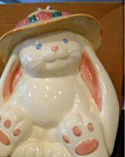 8x10 Bunny Rabbit Teapot 1980s Treaure Craft Collectible Spring Bonnet  Easter Bunny Tea Pot RARE Mint Condition Adorbs! SHIPS FREE