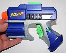 Blue Nerf Crossfire Sidearm Pistol Revolver Dart Tag Gun strikefire Blaster Toy