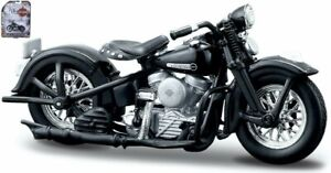 Harley Davidson 1948 Fl Panhead, Maisto Moto Modèle 1:24