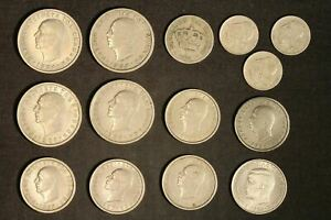 Variety Lot of Greek Coins, 5, 2 Drachma and 20 Lepta - Free Shipping USA