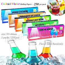 5 Packs Variety Cocktail & Drink Flavored Cigarette Rolling Paper 250 Papers