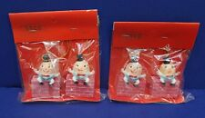 Vintage SSCO Humpty Dumpty Christmas Ornaments 70s Mint Lot of 2 packages HK