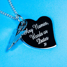 Personalised Magic Triangle Free Custom Engraved Charm Pendant Necklace Gift