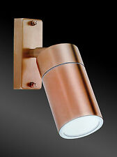 LED Copper Finish Adjustable Exterior Wall Light - complete with 12W LED globe!