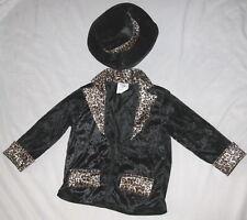 """Velvet 34"""" Bust Leopard Swinger Jacket w Hat Costume"""
