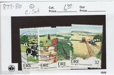 1992 Ireland Sc #877-80 Θ used Farming, cows, tractors & vegetable stamps