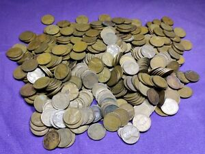 Lot of 500 Mixed Thirties Dates 1930 - 1939 Lincoln Wheat Cents Pennies!! Lot 1