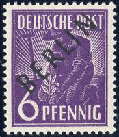 BERLIN, MiNr. 2 x, dickes Papier, tadellos postfrisch, gepr. Schlegel, Mi. 50,-