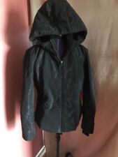 POST CARD of Italy Black quilted womens ski jacket SZ m