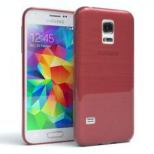 Schutz Hülle für Samsung Galaxy S5 Mini Brushed Cover Handy Case Rosa