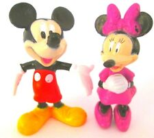 MICKEY & MINNIE MOUSE Figure Set DISNEY CLUBHOUSE PVC TOY Cake Topper FIGURINE!