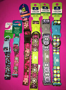 Top Paw & Aspen Pet Adjustable Dog Collars ~ Medium & Larges ~ All New with Tags
