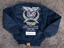 Breitling NAVITIMER 60th ANNIVERSARY jacket LARGE new ALPHA INDUSTRIES blue L