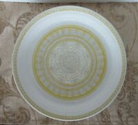 "3 Vintage Franciscan Earthenware HACIENDA GOLD 10 1/2"" Floral Dinner Plates"