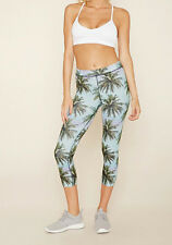 47% OFF! AUTH FOREVER 21 ACTIVE PALM CAPRI LEGGINGS SMALL BNEW US$ 14.90