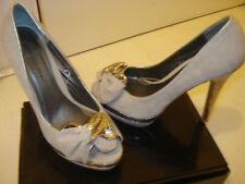 Womens Jane Norman Grey suede peep Toe Platform Occasion Heels Shoes 5 UK/38 Eur