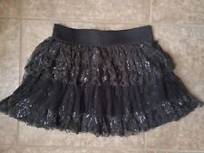 Forever Orchid By Dillard's Cute Pewter Tiered Skirt Size 12 Girls