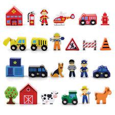 4 Holzfiguren für Holzeisenbahn Film- & TV-Spielzeug
