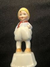 Vintage German Dutch Boy Porcelain Tape Measure