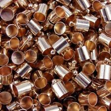 24 x Rose Gold Necklace Cord End Tip Caps Jewelley Craft  11x7mm C22