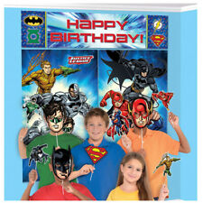 Justice League Scene Setter w/ Props ~ Birthday Party Supplies Decoration Comics