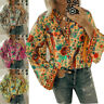 Womens Boho Long Sleeve Casual Loose Tops Ladies Hippie Gypsy Tunic Blouse Shirt