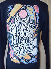 NEW! LAUREN JAMES SUGAR & SPICE EVERYTHING NICE SWEET TEE T SHIRT ESTATE BLUE XS