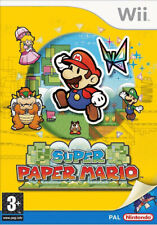 New ListingSuper Paper Mario Nintendo Wii Wii U Game With Manual Official Uk Pal