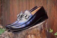 Mens Vintage Gucci Horsebit Loafers Size 8 D M Dark Brown Leather SlipOn Formal