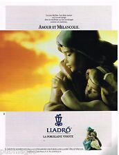 Publicité Advertising 1991 La Porcelaine Lladro