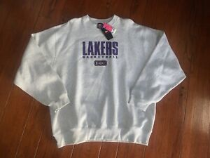 Vintage 90s Team Nike Los Angeles Lakers Heather Gray Sweatshirt 2XL Kobe Shaq
