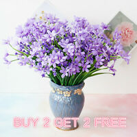 US Artificial Silk Orchid 28 Head Bouquet Fake Flowers Wedding Party Home Decor