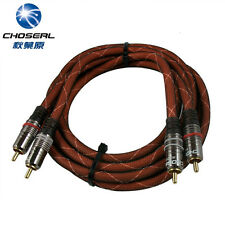 Choseal 2×RCA to RCA Male Digital Home Theatre Audio Interconnect Cable 1.5m 5ft