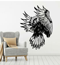 Vinyl Wall Decal Owl Night Forest Bird Flying Tribal Kids Room Stickers (g2608)