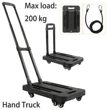 Folding Hand Truck Shopping Luggage Carts 440lbs Capacity Industrial Travel